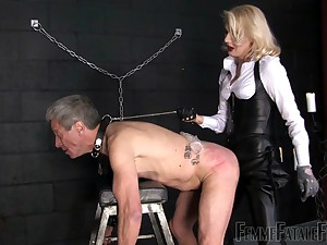 spanking and eternal sex relative to Mistress Akella is all thatold guy needs
