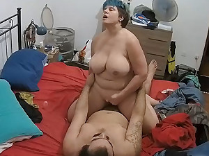 Plump Curvy Order about Of age Riding Dick & Inviting Facial convivial