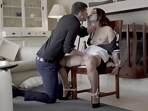 Pare girl Valentina Bianco gives a blowjob and gets fucked