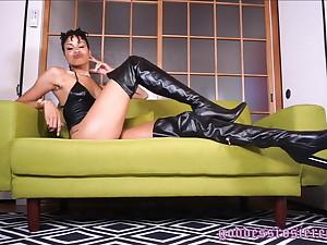 Goddess Rosie Sharpen dilute Hole up Fetish Boot Fetish Jet-black Domme