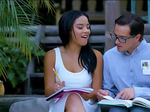 Sex with the young nerd is better for the Latina than study