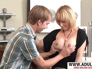 Naughty Mother Sophia Mounds Gets Fucked Well Young Step-son