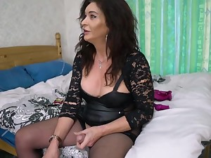 Mature Ts Celine In Old Trans . Gently Dominates Horny Younger Transexual Woman