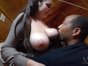 Hot breastfeeding - Big white tits in interracial milking fetish