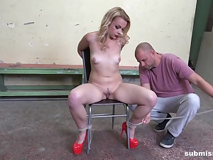 The guy ties her anent and roughly fucks her in total maledom XXX