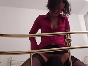 X-rated milf smother richie in her business outfit
