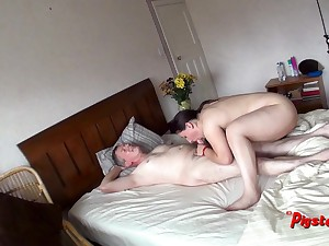 Snoop Cam View For Daddy Masturbating And Screwing Chubby Slut