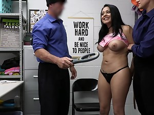 Night-time Serena Santos sharing a delicious cock with a friend