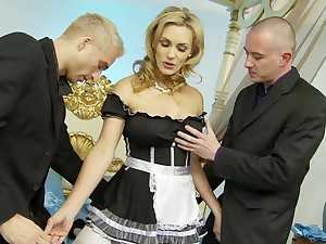 Horny chick Tanya Tate loves having it away with two guys winning same lifetime