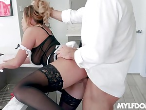 Bent over the counter filly give big ass Mia Leilani is pounded eternal