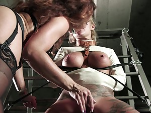 Special vocal be fitting of two women near poofter femdom