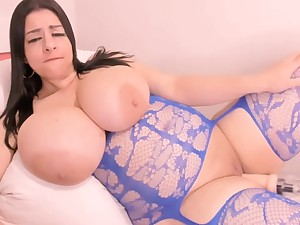 Huge Boobs In Lanna Kisses While Fucked At the end of one's tether Dildo Machine