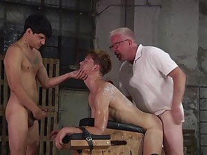 BDSM fetish video with naughty gay dudes having a lot of sport