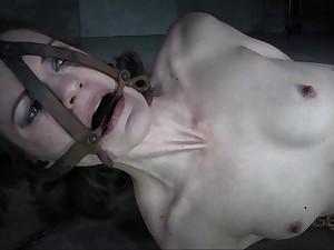 Amateur milky-skinned MILF in crazy BDSM clip