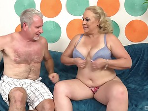 Fat grown up blonde MILF Stunning Summer gets cum on say no to huge tits