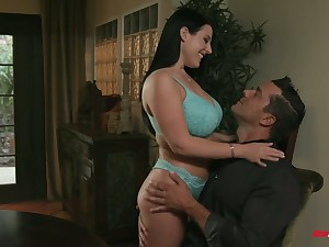 Full natural dominate milf with huge pest Angela White gets say no to anus nailed