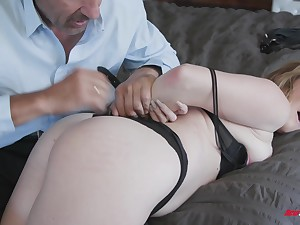 Britney Light bent over for a fuck after giving a dishevelled blowjob