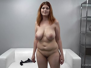 Big-Breasted Redhead Obese Female parent At Casting