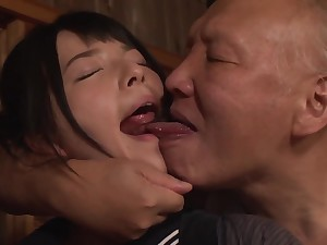 Ai Uehara with an increment of the Old Men - Japanese Porn Video