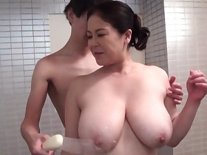 Valiant hardcore sex for the busty mature Japanese mom