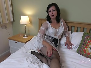 Wanilianna is wearing louring fishnets after a long time masturbating in say no to bedroom, in front of the camera