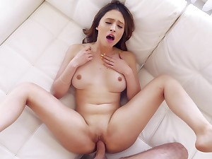 Teen beauty loads the huge dick in all possible modes